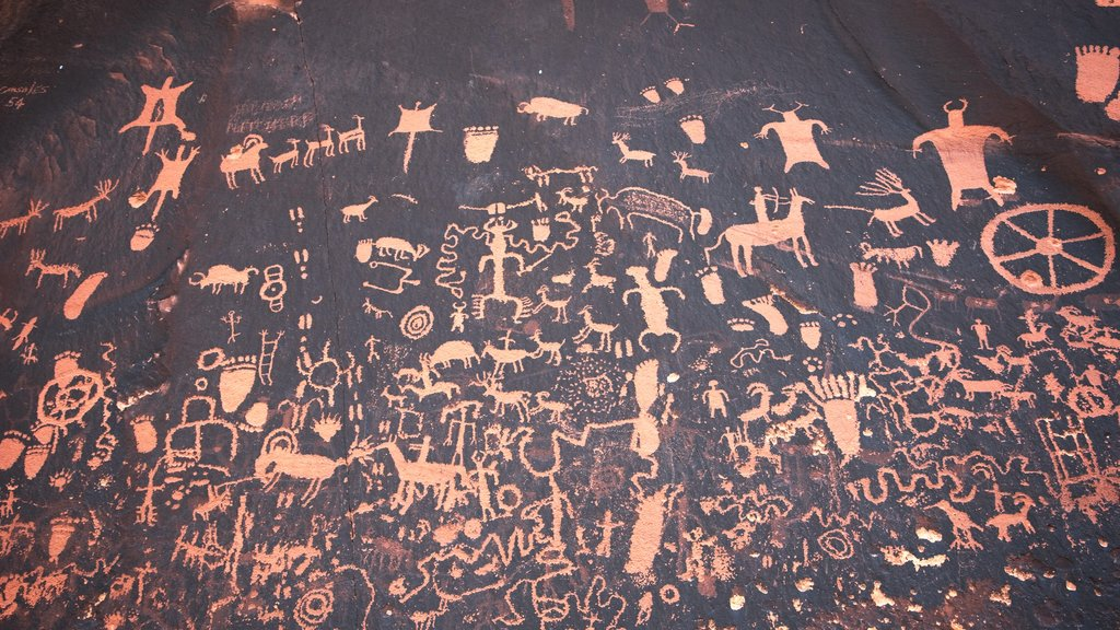 Newspaper Rock State Historical Monument which includes heritage elements