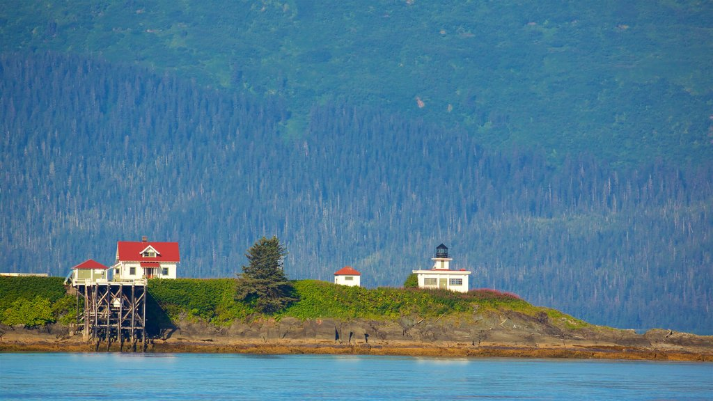 Funter Bay State Marine Park which includes a lighthouse and a river or creek