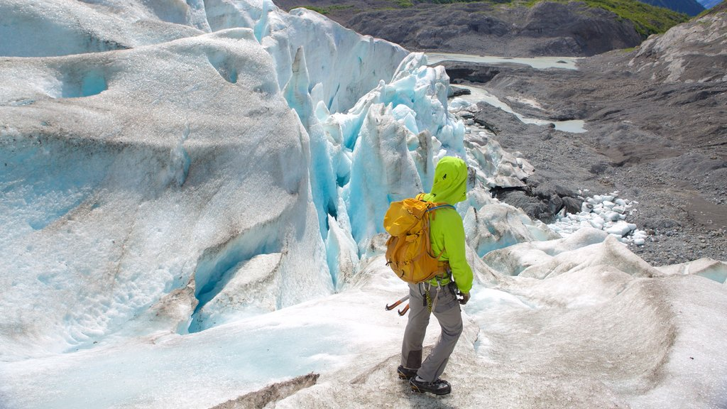 Godwin Glacier as well as an individual male