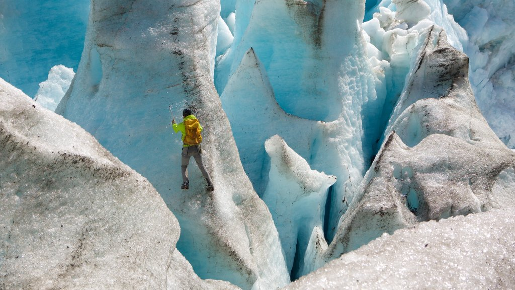 Godwin Glacier which includes climbing as well as an individual male