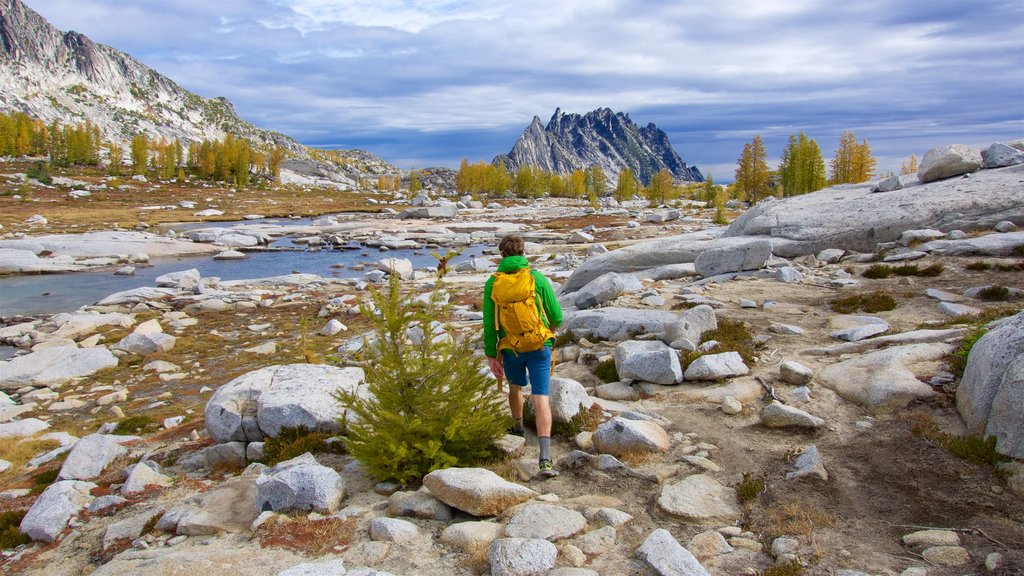 The Enchantments which includes tranquil scenes, hiking or walking and a river or creek