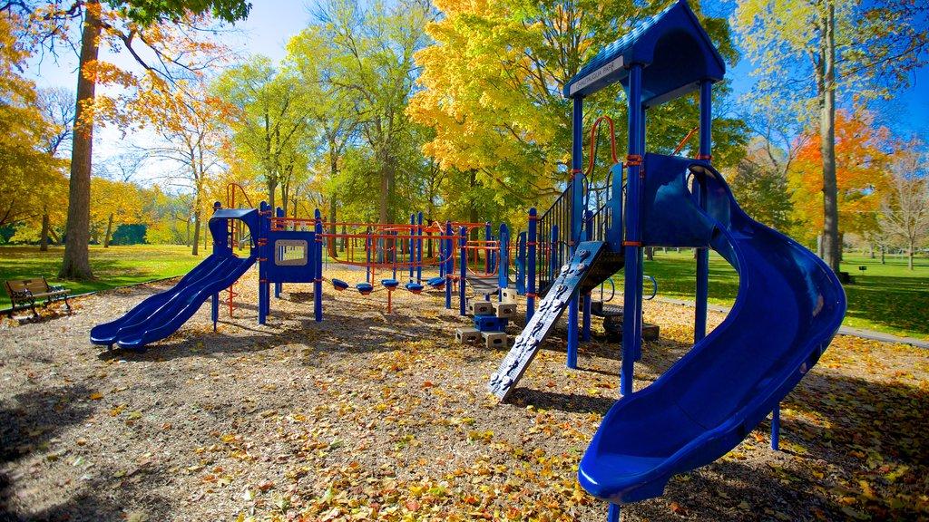 Chautauqua Park featuring a playground