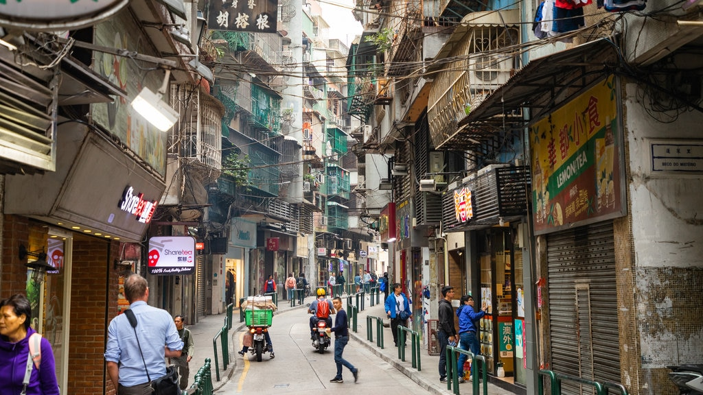 Macau City Centre featuring street scenes and a city