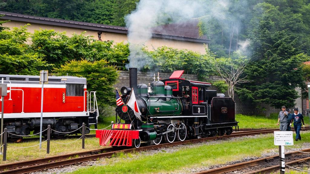 Museo General Ungakan de la Ciudad de Otaru mostrando elementos del patrimonio y artículos de ferrocarril