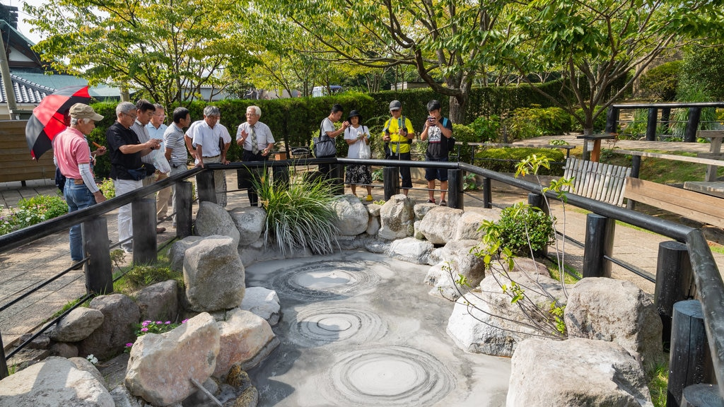 Oni-bōzu Jigoku featuring a hot spring as well as a small group of people