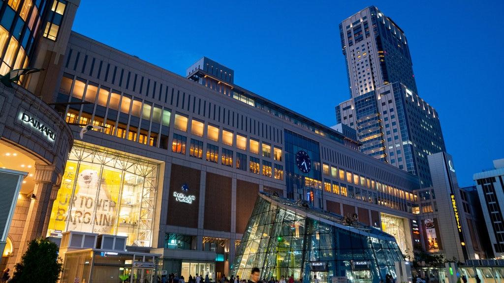 Torre JR de Sapporo que incluye una ciudad y escenas nocturnas