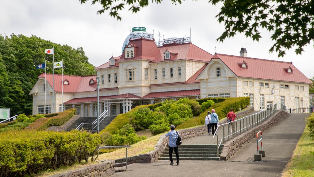 Historical Village of Hokkaido which includes heritage architecture as well as a small group of people
