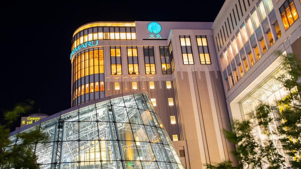 Sapporo ofreciendo una ciudad y escenas nocturnas