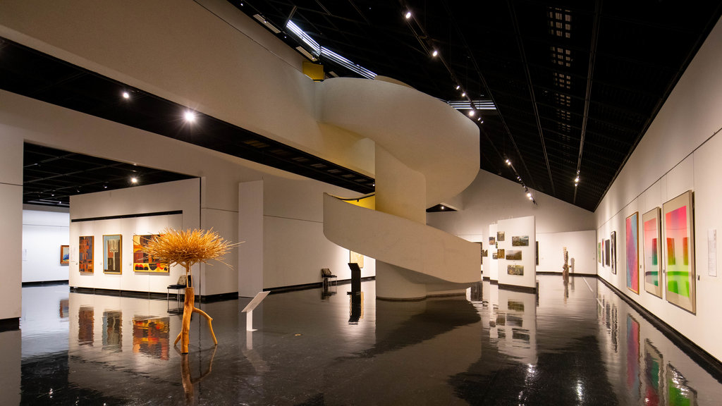 Hokkaido Museum of Modern Art featuring art and interior views