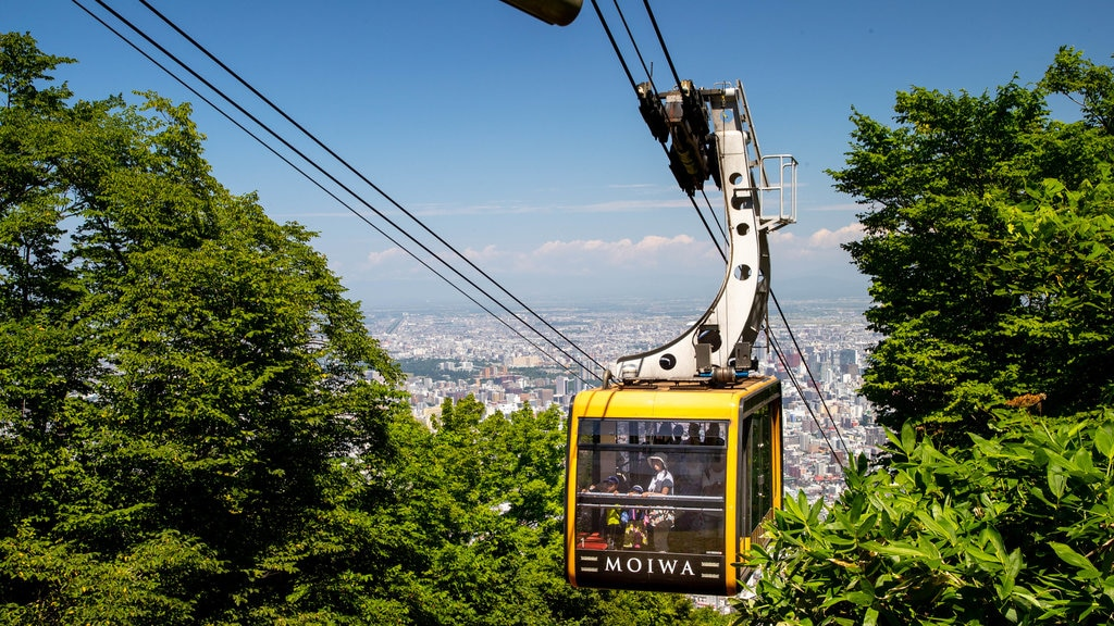 Moiwa Ropeway showing landscape views and a gondola