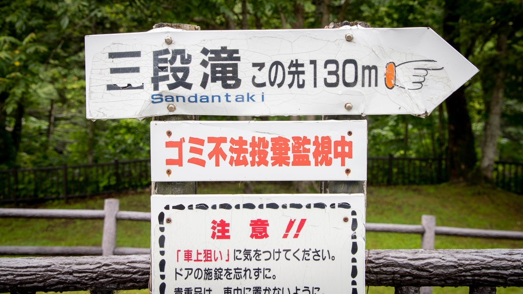 Furano featuring signage