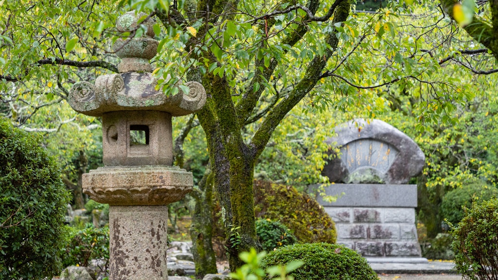 Dazaifu which includes heritage elements and a garden
