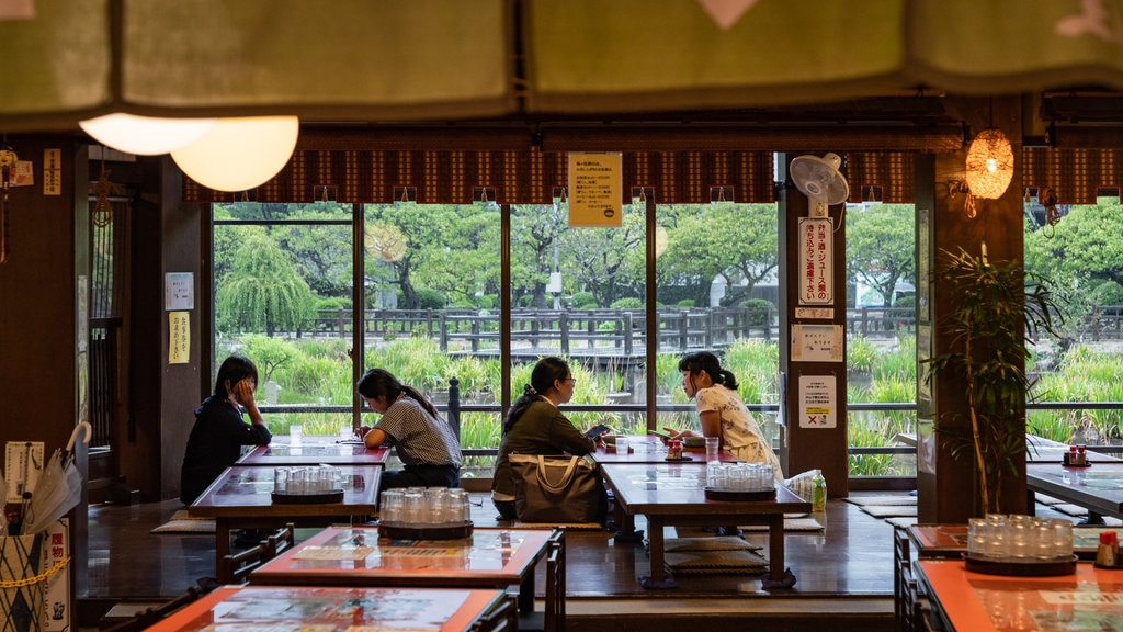 Dazaifu which includes dining out and interior views as well as a couple