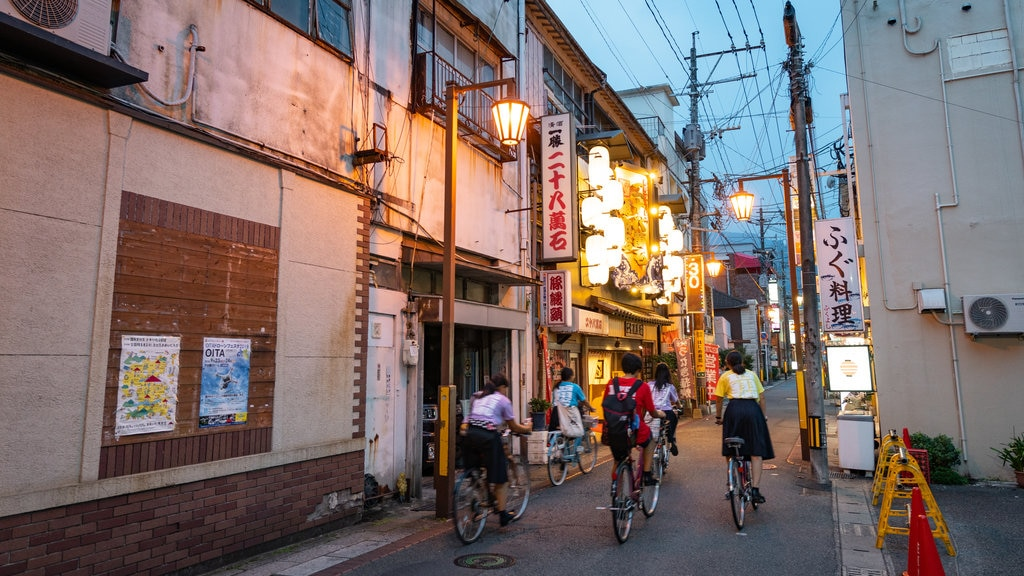Beppu which includes cycling and night scenes as well as a small group of people