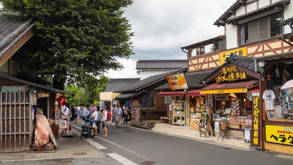 Yufu featuring street scenes