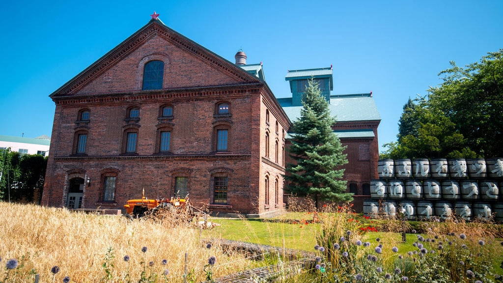 Sapporo Beer Museum featuring wildflowers and heritage architecture