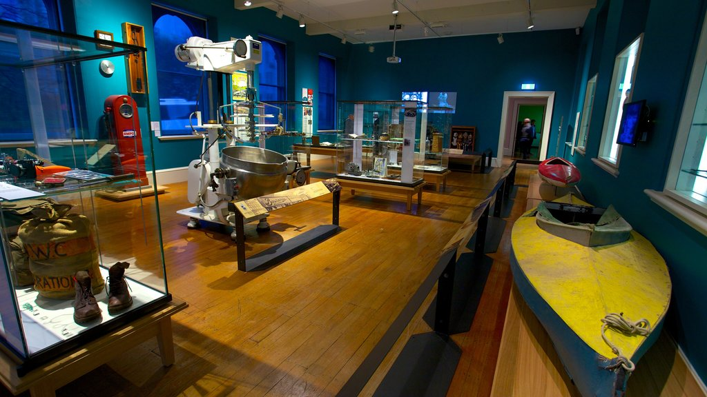 Tasmanian Museum and Art Gallery showing interior views