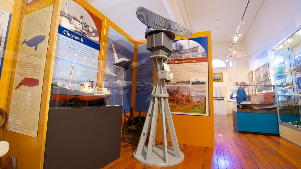 Maritime Museum of Tasmania which includes interior views