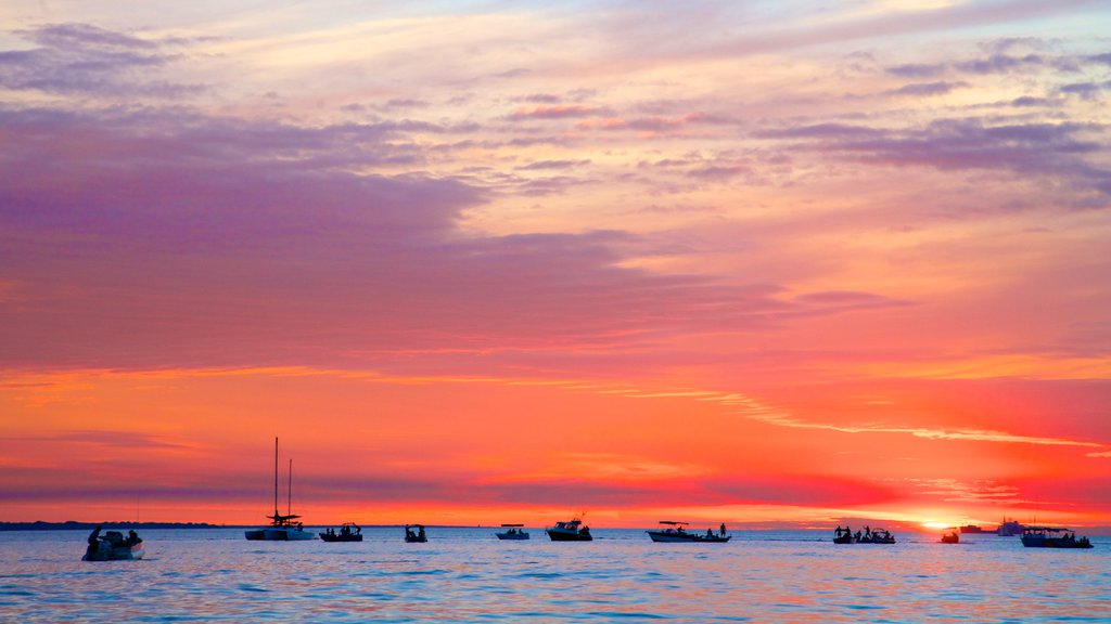 Darwin which includes a sunset, boating and general coastal views