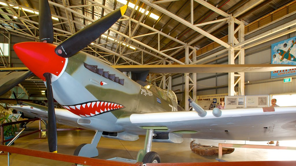 Australian Aviation Heritage Centre featuring interior views and aircraft