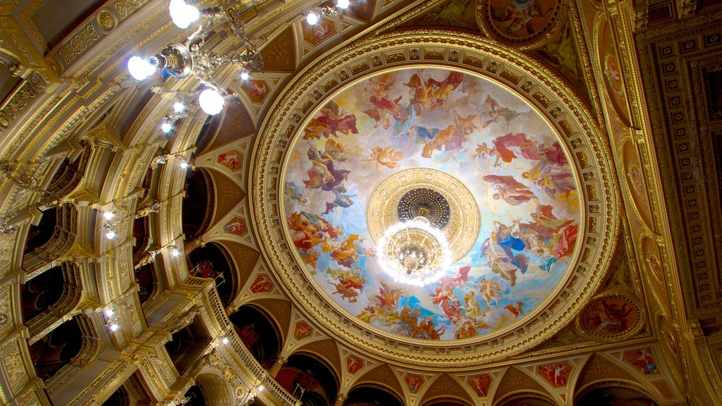 Hungarian State Opera House featuring interior views and theater scenes