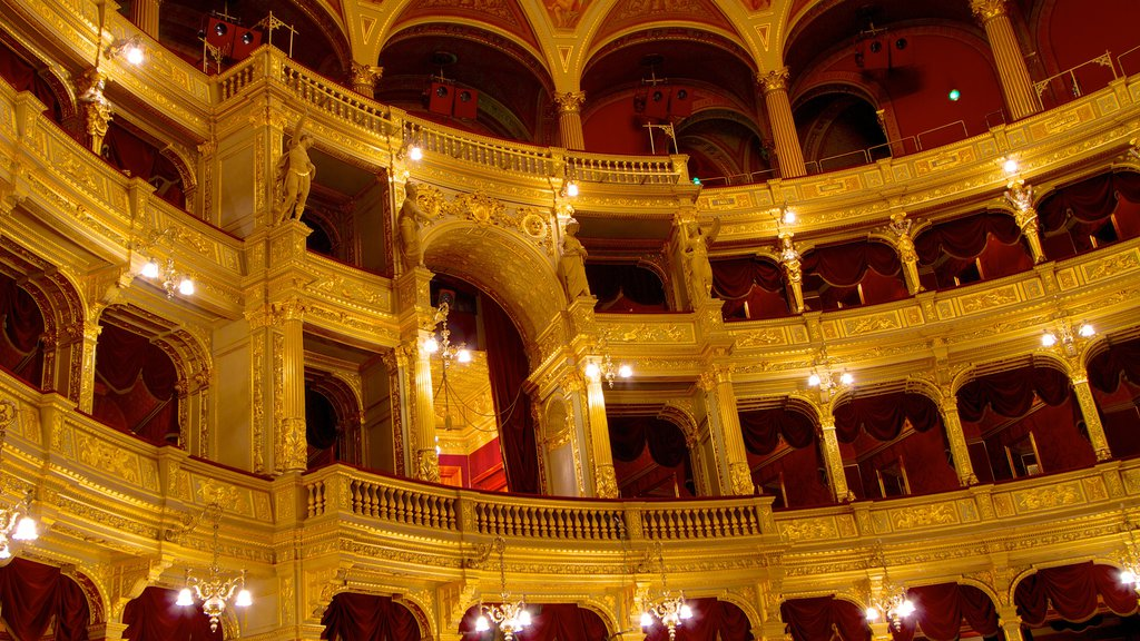 Hungarian State Opera House showing theater scenes, heritage architecture and interior views