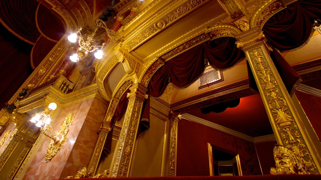 Hungarian State Opera House showing theater scenes, interior views and heritage architecture