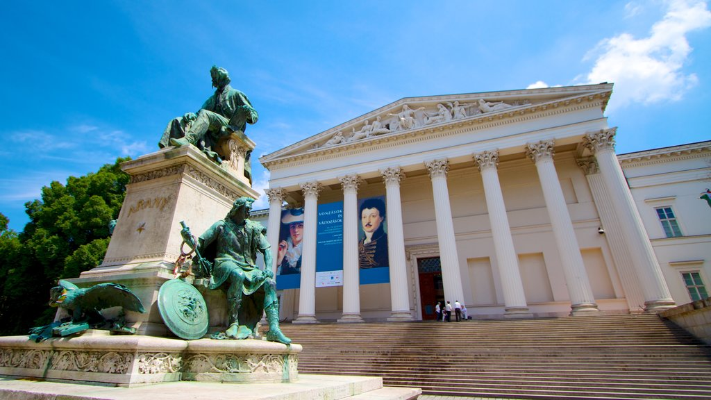 Hungarian National Museum featuring heritage elements and street scenes