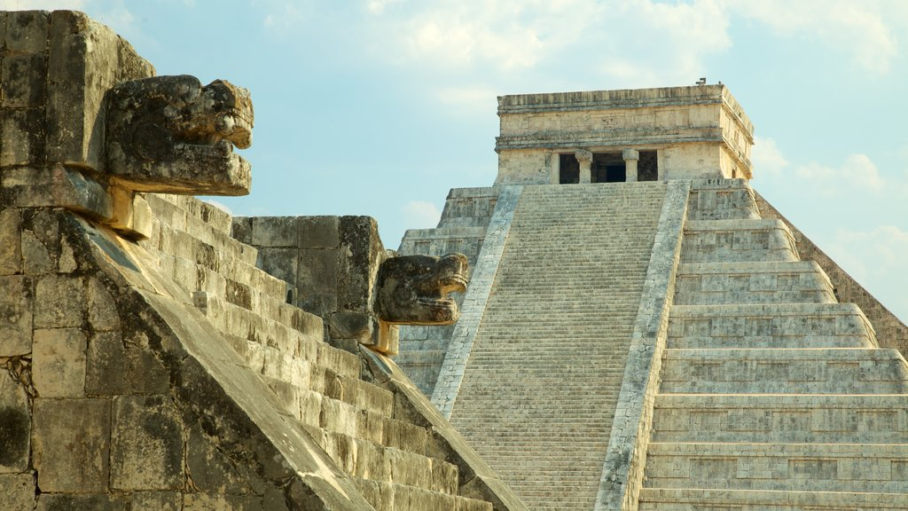 Riviera Maya featuring heritage architecture and a small town or village