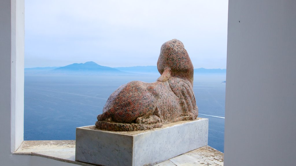 Villa San Michele featuring general coastal views, a statue or sculpture and outdoor art