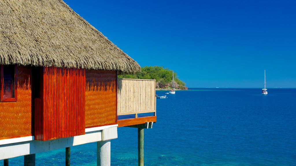Fiji featuring general coastal views, boating and tropical scenes