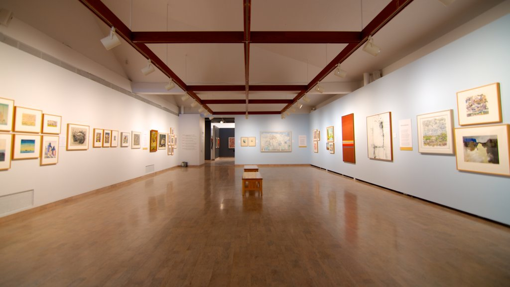 Mendel Art Gallery featuring interior views and art
