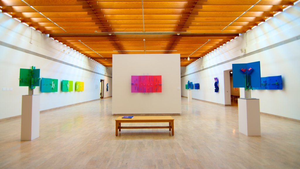 Mendel Art Gallery showing interior views and art