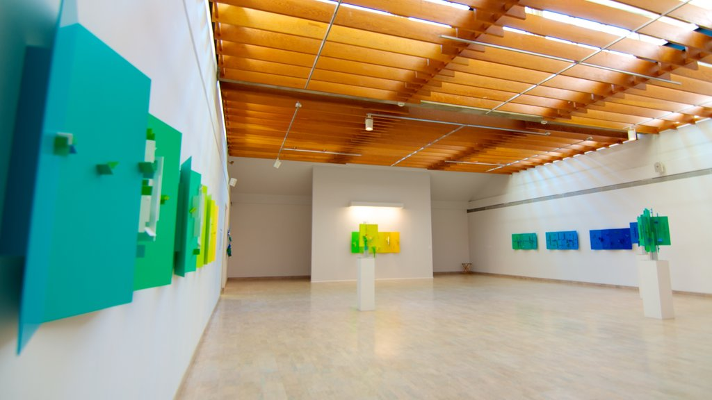 Mendel Art Gallery which includes art and interior views