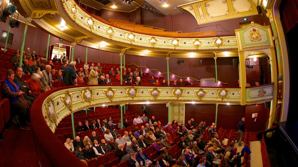 Theatre Royal featuring theater scenes, interior views and performance art