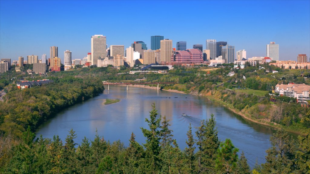 Edmonton featuring a city and a river or creek