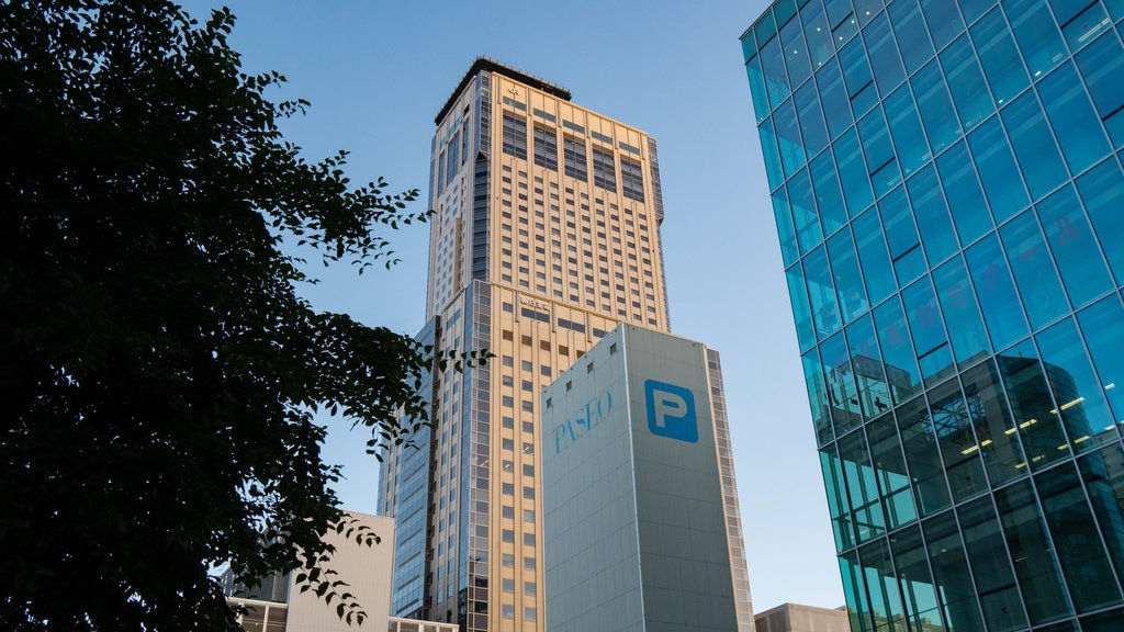 Sapporo JR Tower featuring a high rise building and a city