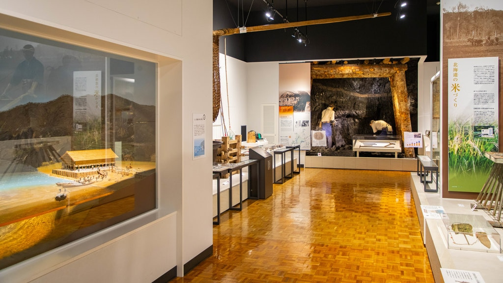 Museo de Historia de Hokkaido ofreciendo vistas interiores