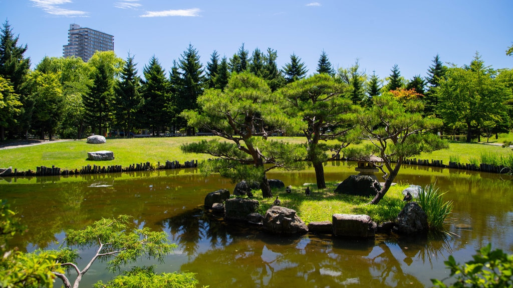 Nakajima Park which includes a pond, island images and a park