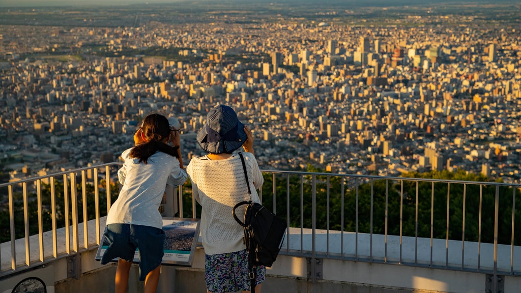 Mount Moiwa featuring views, a city and landscape views