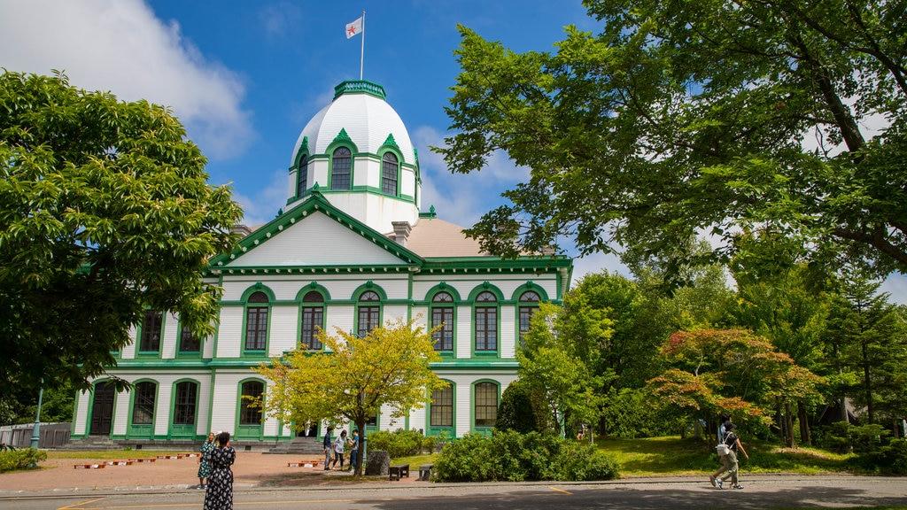 Pueblo histórico de Hokkaido mostrando patrimonio de arquitectura