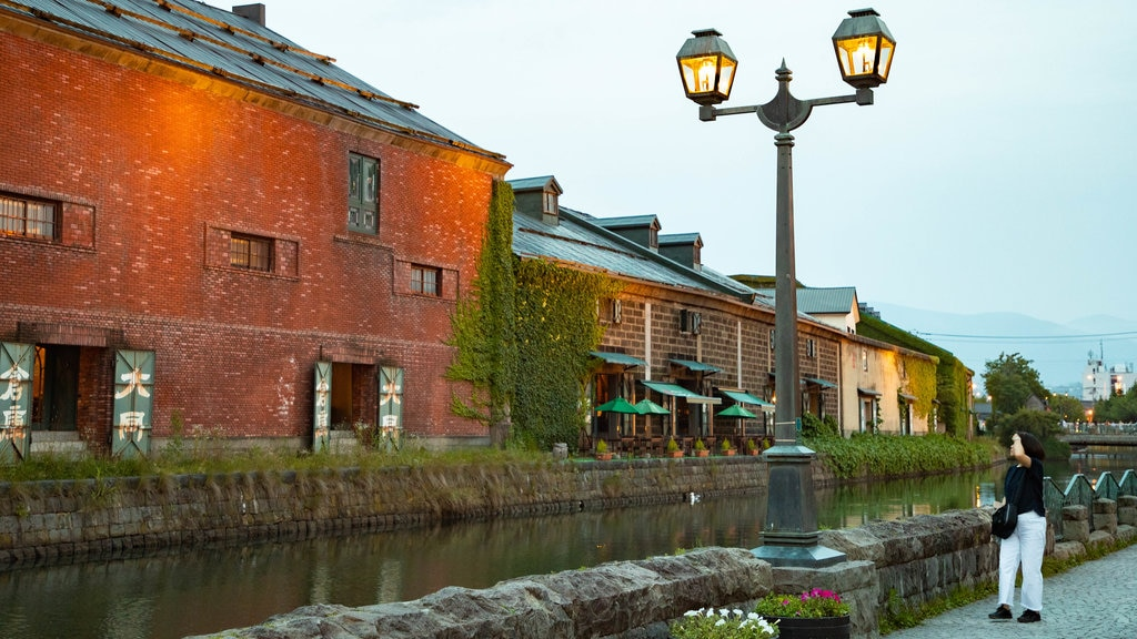 Otaru Canal which includes a river or creek as well as an individual femail