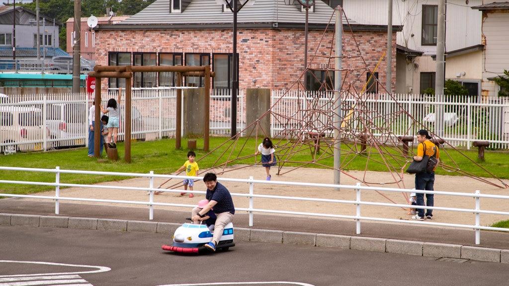 Jardín botánico tropical de Hakodate que incluye un parque infantil y también niños