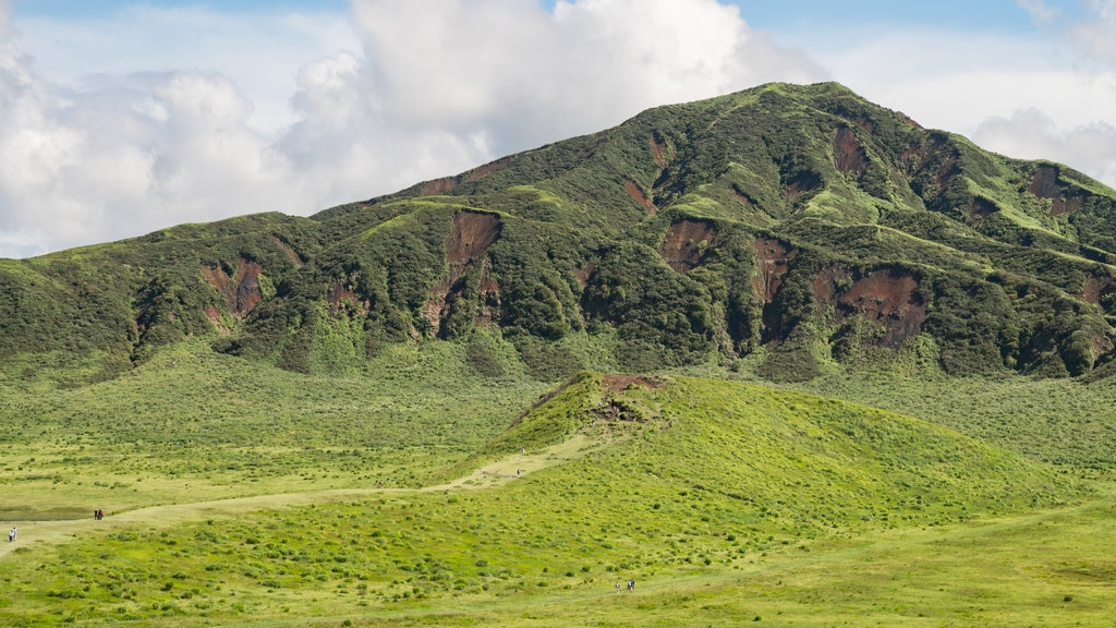 Mount Aso which includes mountains and tranquil scenes