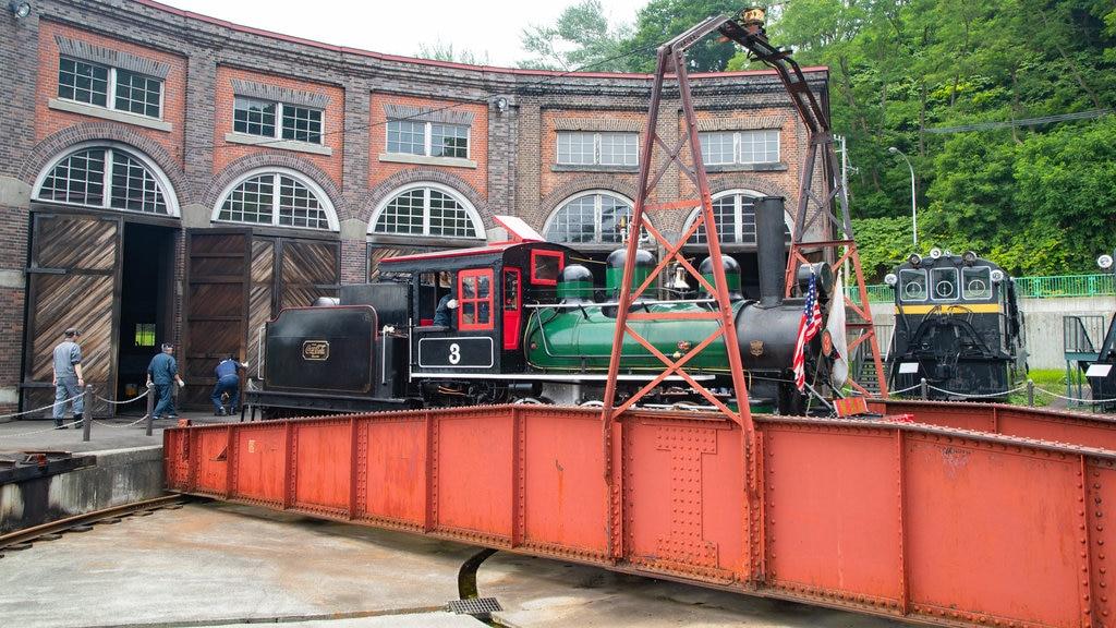 Museo General Ungakan de la Ciudad de Otaru ofreciendo artículos de ferrocarril y elementos del patrimonio