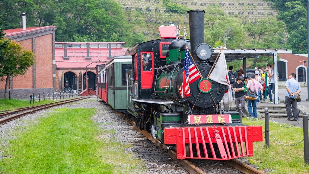 Museo General Ungakan de la Ciudad de Otaru que incluye elementos del patrimonio y artículos de ferrocarril