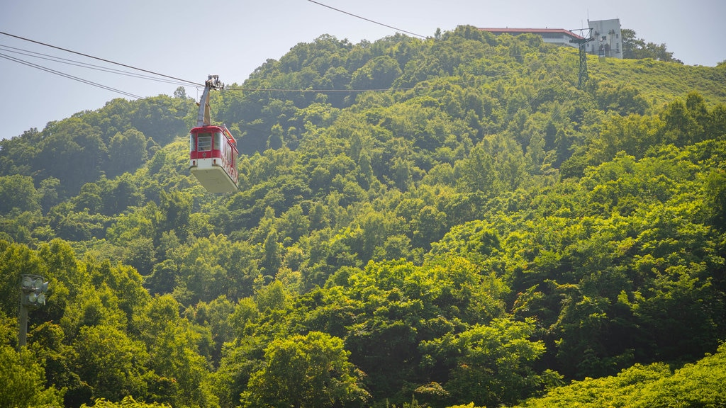 Otaru Tenguyama Ropeway showing a gondola and landscape views