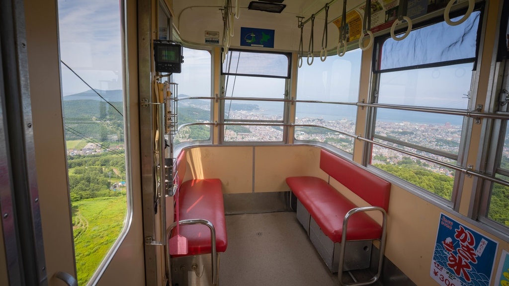 Otaru Tenguyama Ropeway featuring interior views and a gondola