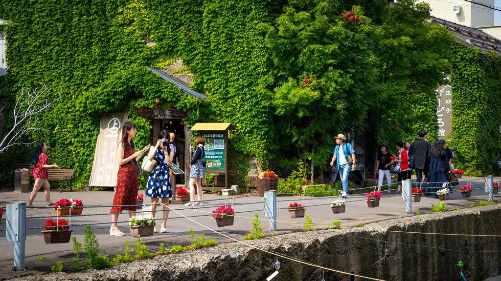 Calle Sakaimachi que incluye escenas urbanas