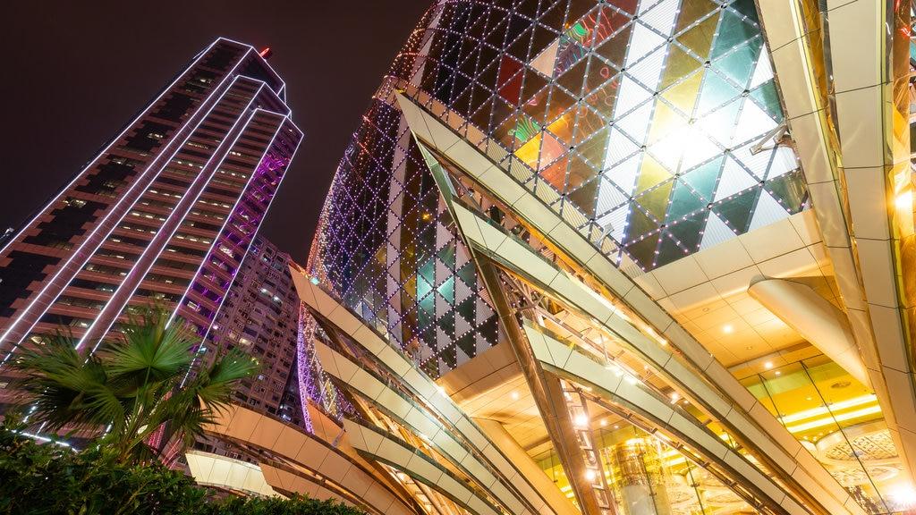 Macau SAR featuring night scenes and a skyscraper